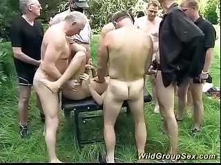 german alfresco groupsex orgy