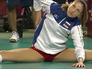 Hot volleyball player cameltoe