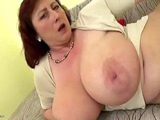 Plump female parent not far from big saggy Bristols