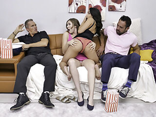 DaughterSwap - Beautiful Stepdaughters Blow Their Stepdads And Snowball