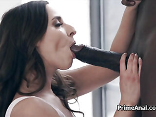 Fine ass licked out by big black cocked bf