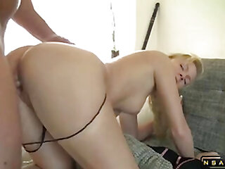 Sexy blonde milf doggystyle ass fucked