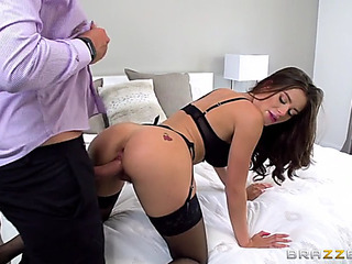 Lana rhoades in hot nylons acquires doggystyled by keiran lee
