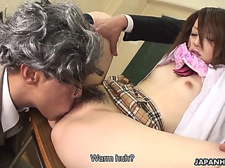 Shy and shaggy ria sakurai is drilled by teachers in college