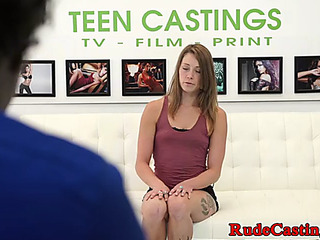 Casting nonprofessional legal age teenager roughfucked in s&m
