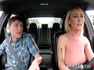 Super Hot MILF Uber Driver Fucks Her Rider