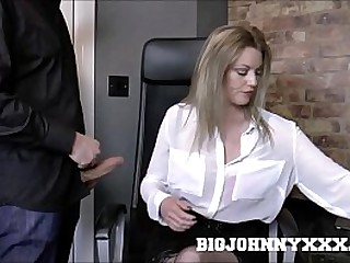 Sexy Busty Mature Milf in Stockings Holly Kiss Fucks Young Big Cock!