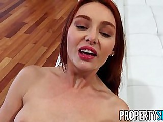 PropertySex Hot redhead selling house discovers a loophole for No Nut November and fucks her client in house she is selling