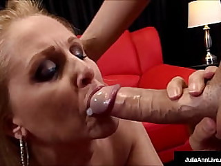 Ball sucking, cock stroking mommy, Julia Ann, gives your hard cock the best time with her sweet sexy lips around it, milking you until that cock is dry! Full Video & Julia Live @ JuliaAnnLive.com!